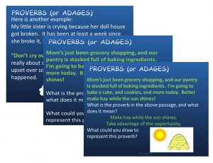 Idioms and Proverbs ppt slide 3