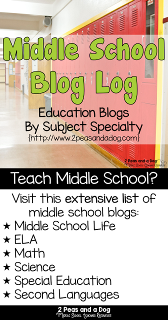 Middle School Blog Log Long Pin