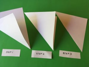 Pyramid Foldable - steps 1-3
