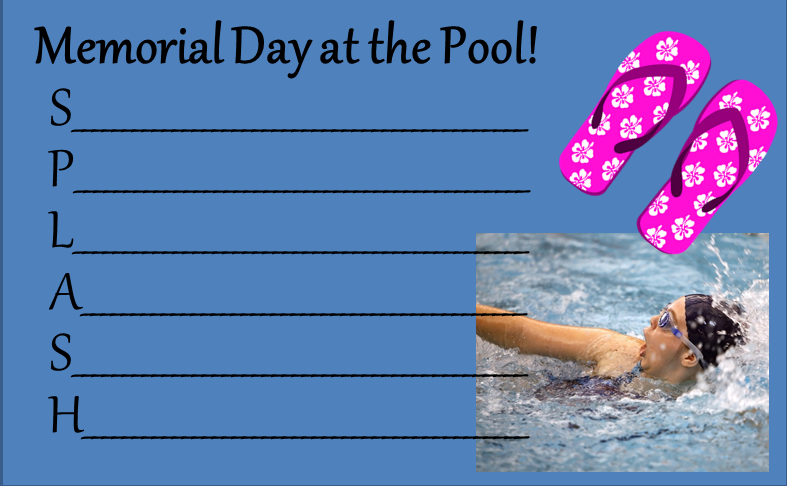 Memorial Day Poetry Templates - Poem 2
