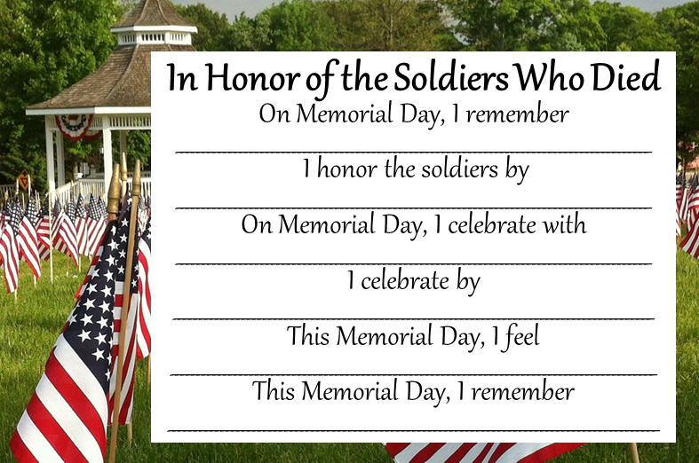 Memorial Day Poetry Templates - poem 1
