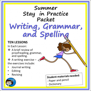Summer Practice Packet - Writing, sq cover