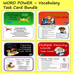 Vocabulary Task Card Bundle - Word Power
