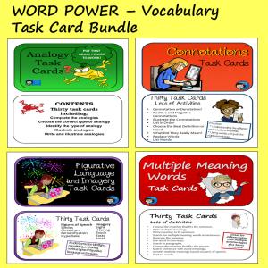 Vocabulary Task Card Bundle - Word Power