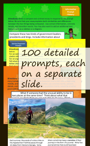 Writing Prompts-Narrative, Explanatory, and Opinion