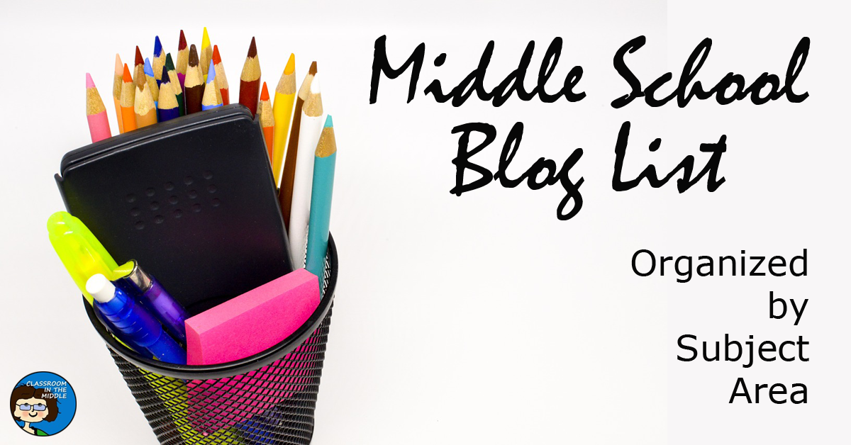 Middle School Blog List by Subject Area