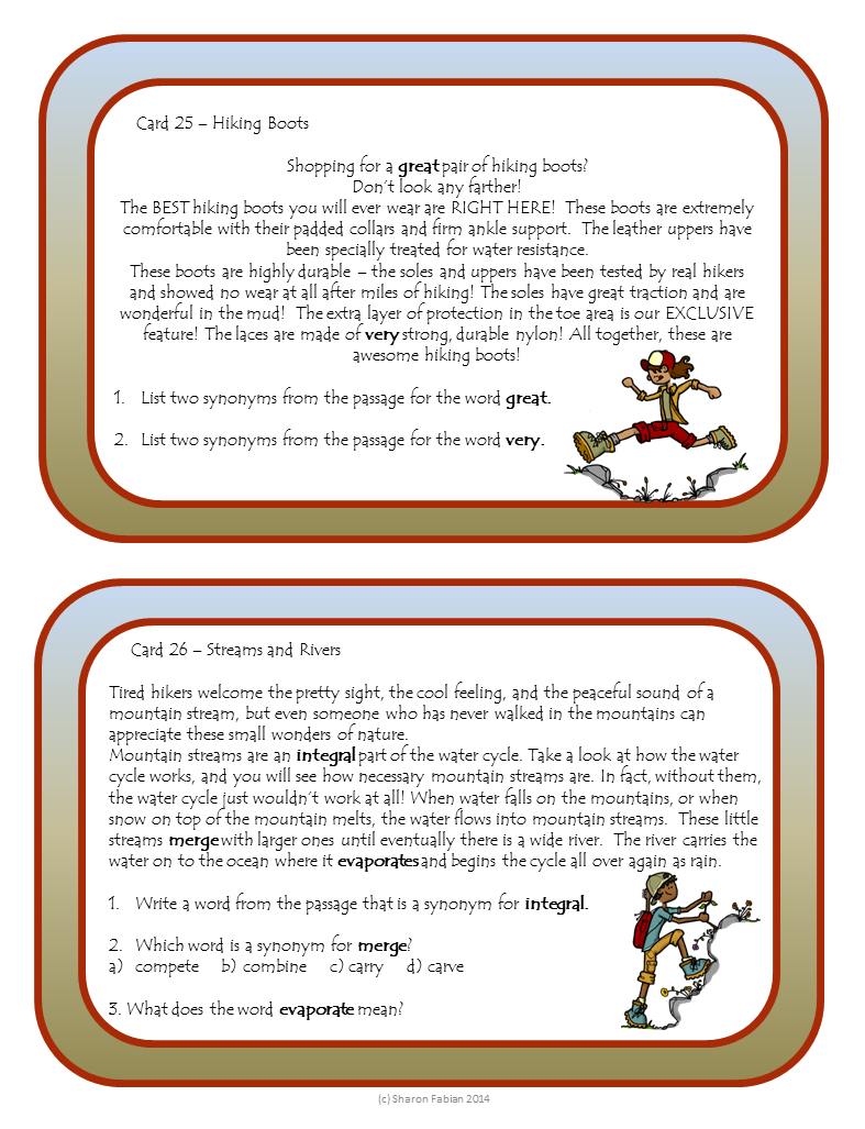 Context Clues Task Cards slide 2