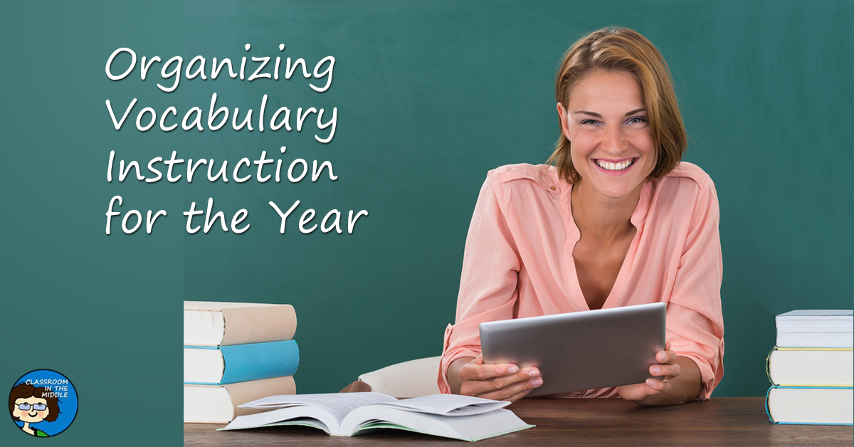 Organizing vocabulary instruction for the year