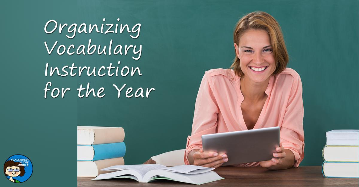 Organizing vocabulary instruction for the year