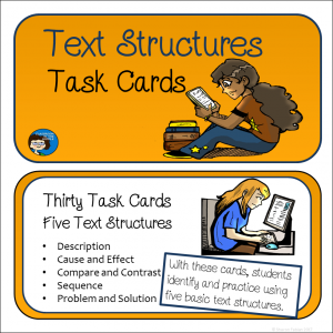 Text Structures Task Cards cover