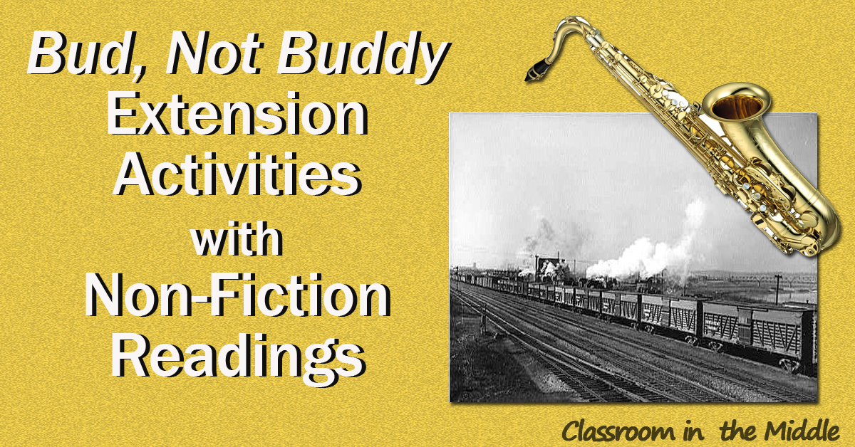 Bud, Not Buddy Extension Activities withNon-Fiction Readings fb