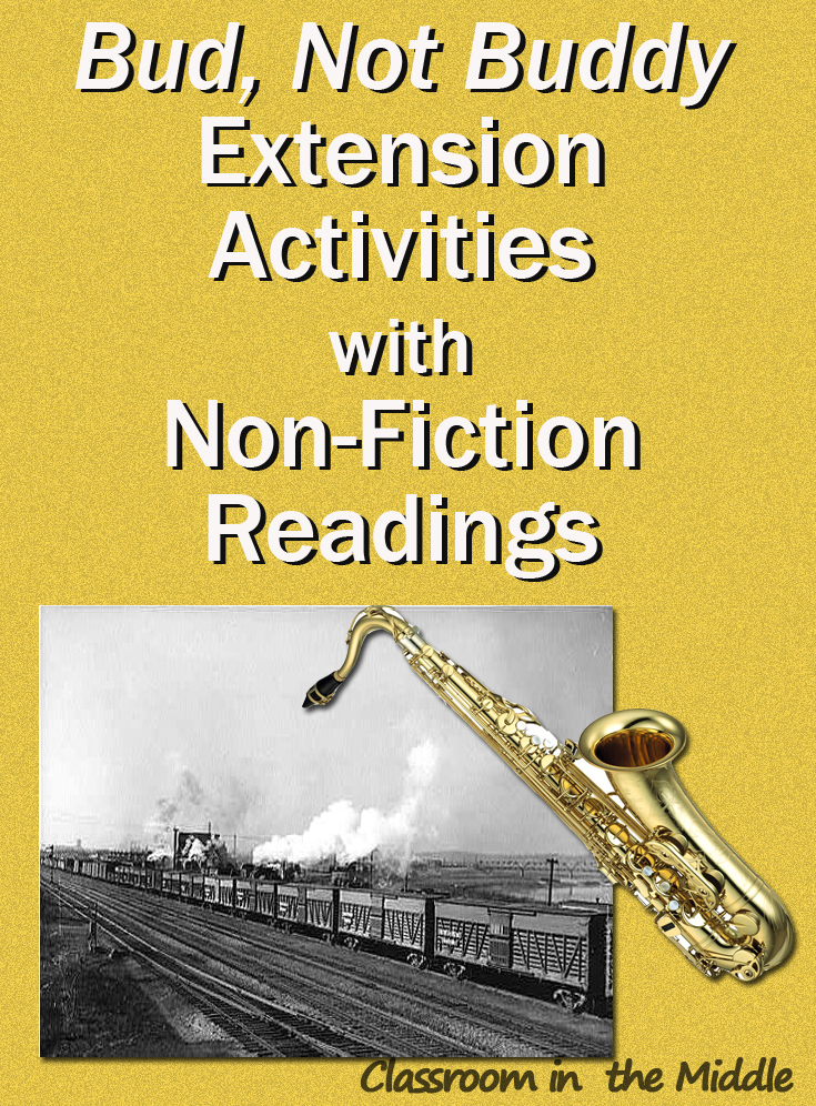 Bud, Not Buddy - Extension Activities with Non-Fiction ...