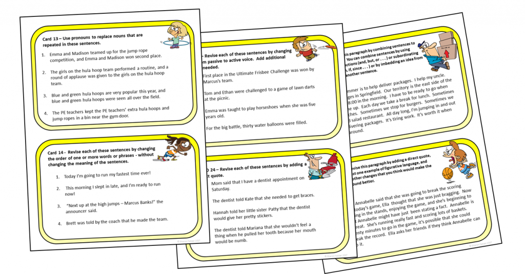 Revising Task Cards samples