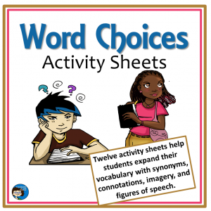 Word Choices Activity Sheets cover sq