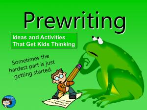 Prewriting cover