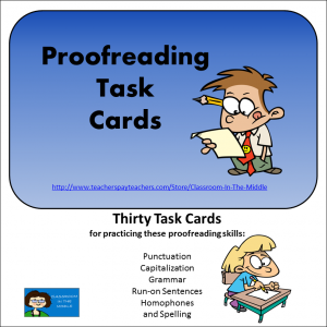 Proofreading task cards