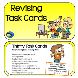 Revising Task Cards outlined