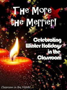 Celebrating Winter Holidays in the Classroom pin copy