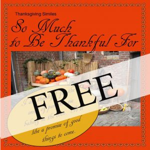 Thanksgiving Similes - FREE square cover