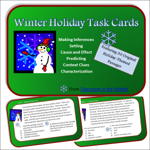 Winter Holiday Task Cards