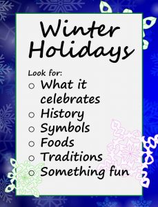 Winter Holidays Chart