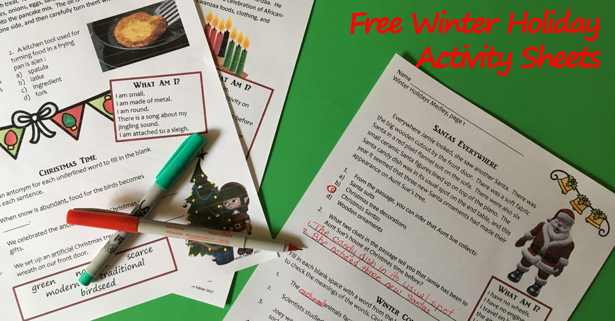Winter Holiday Medley -free resource