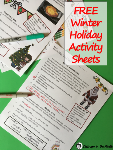 Winter Holiday Medley - free resource