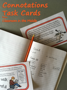 Connotations Task Cards in Use