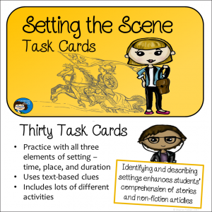 Setting the Scene Task Cards cover sq