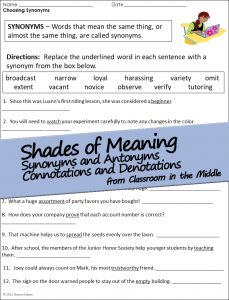 Shades of Meaning Activity Sheets sample 1