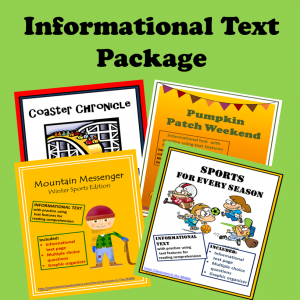 Informational Text Package Square Cover