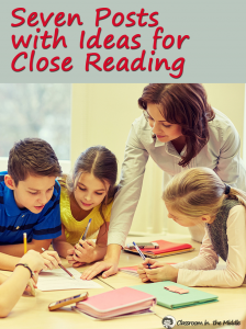 Seven Posts Close Reading pin