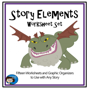 Story Elements Worksheets cover