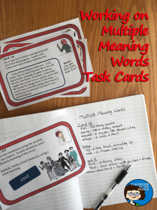 Multiple Meaning Words TaskCards photo pin
