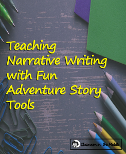 Teaching Narrative Writing w Fun Adventure Story Tools pin