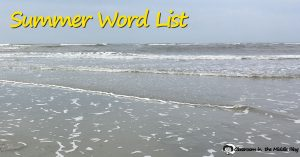 Summer Word List fb