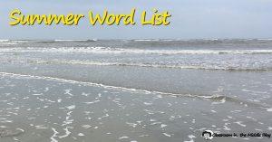 Summer Word List fb