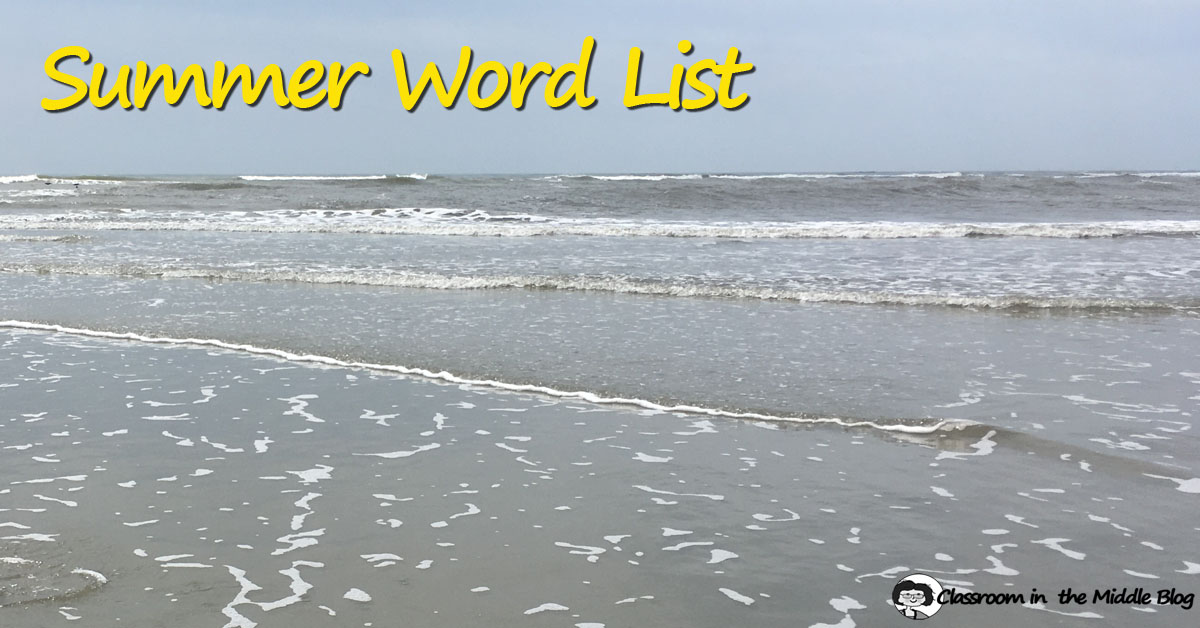 Summer Word List