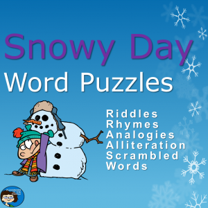 Snowy Day Word Puzzles PowerPoint