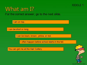 Back to School riddle slide 2