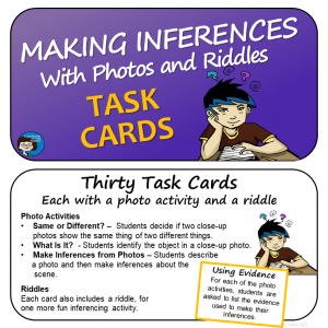 Making Inferences with Photos and Riddles Task Cards - sq