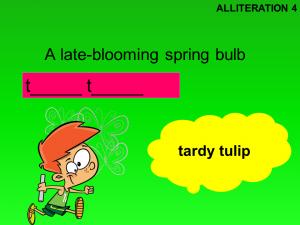 alliteration puzzle