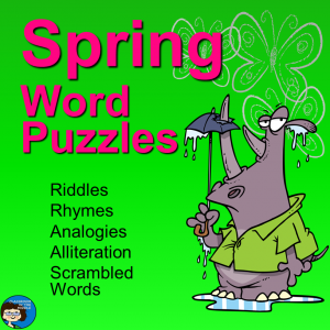 Spring Word Puzzles - cover, sq