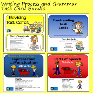 Writing Process and Grammar Task Card Bundle