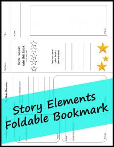 Story Elements Foldable Bookmark