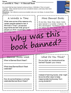 A Wrinkle in Time- Banned Book