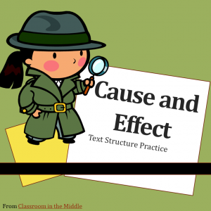 Cause and Effect slide presentation