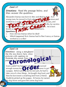 Chronological Task Cards sample