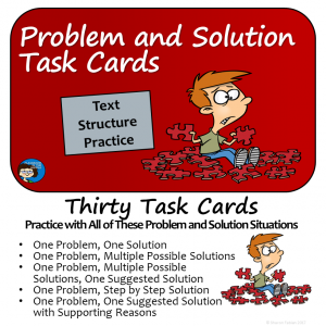 Problem and Solution Text Structure Task Cards