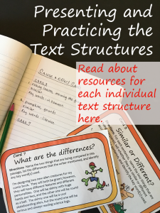 Practicing the Text Structures